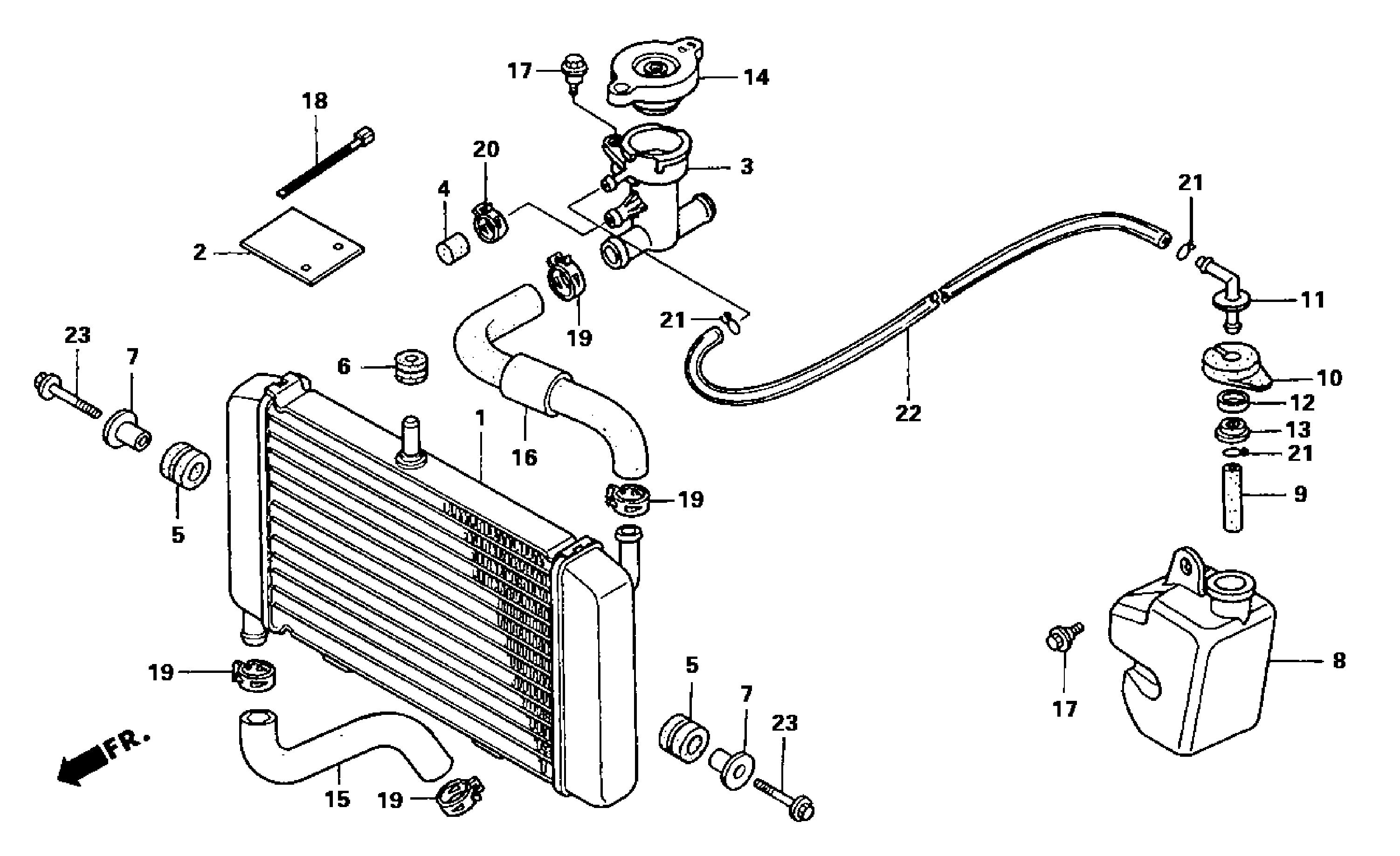 Honda Coolant Auto Parts Diagrams